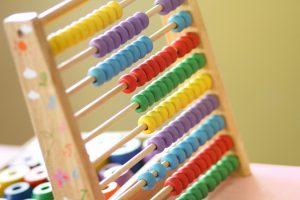 ábaco de colores para llevar el control de la independencia financiera