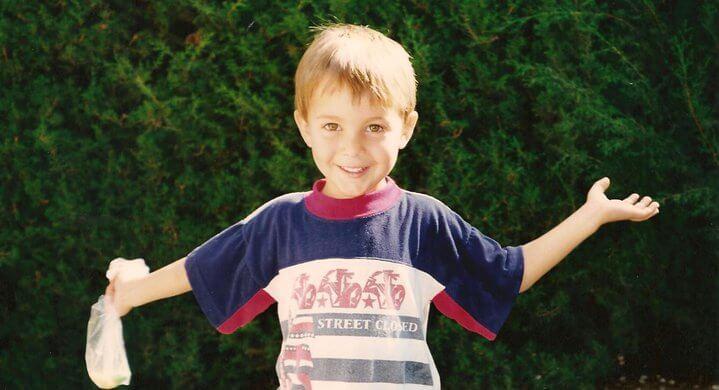 Foto de mi mismo cuándo tenía solamente 3 años