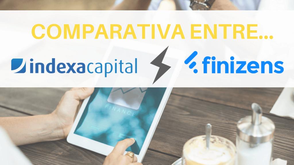 Imagen que muetra la comparación entre indexa capital con finizens, los robo advisors más famosos de España