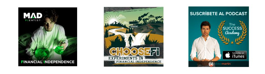 Algunos podcast que pueden ser interesantes para las personas que buscan la independencia económica