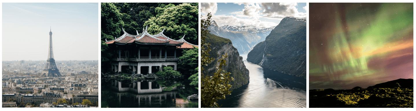 Ejemplos de países a visitar mediante travel hacking o técnicas para viajar gratis