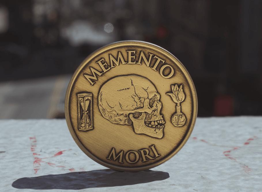 Moneda de memento mori para llevar siempre encima