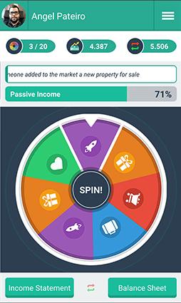 La app de Money Race está inspirada en el juego de Robert Kiyosaki
