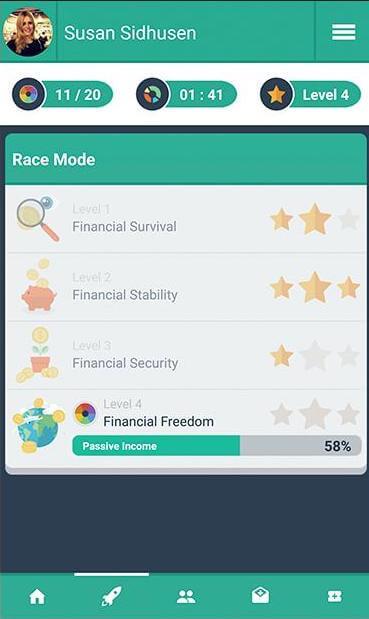Juego Money Race 2 sobre gestión del dinero y patrimonio personal